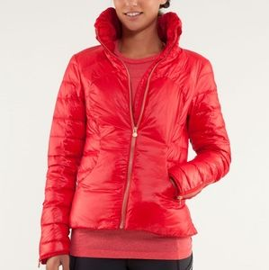 RARE Lululemon Down Town Puffy Jacket  Red Currant